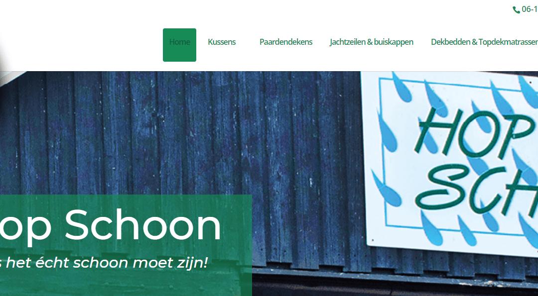 Nieuwe website Wasserij Hop Schoon online!
